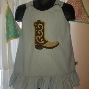 Posh Pickle dress with cowbody boot applique